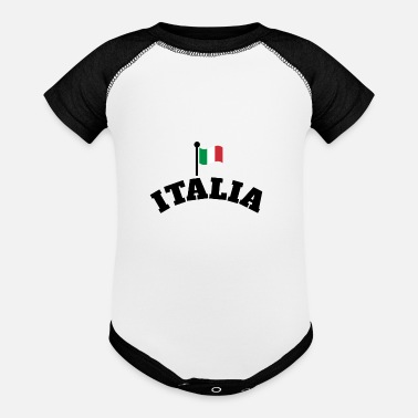 Italy Italia | Italian Flag | Waving Flag of Italy - Baby Contrast One Piece