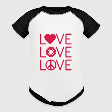 Love Love Love - Baby Contrast One Piece