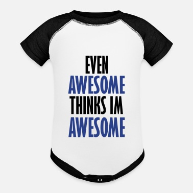 Evening even awesome - Contrast Baby Bodysuit