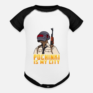 My City POCHINKI IS MY CITY - Baseball Baby Bodysuit