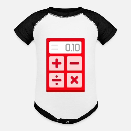 Calculator Baby Clothing - calculator - Baseball Baby Bodysuit white/black