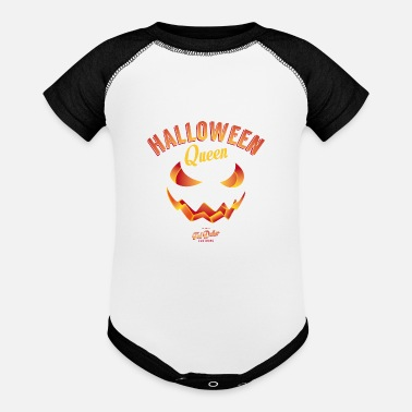 Pumpkin Halloween Queen - Baseball Baby Bodysuit