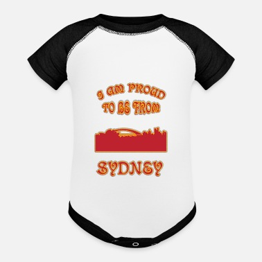 I Love Sydney SYDNEY I am proud to be from - Contrast Baby Bodysuit