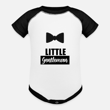 little gentleman - Contrast Baby Bodysuit
