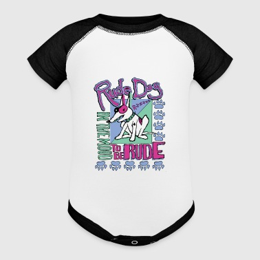 Rude rude dog - Baby Contrast One Piece
