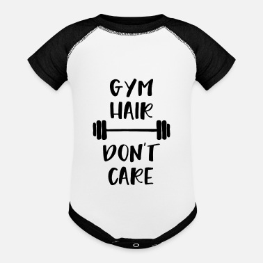 Care Gym hair dont care - Baseball Baby Bodysuit