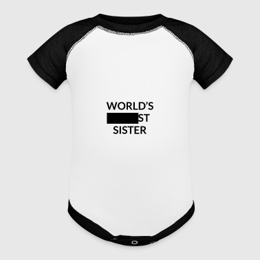 Gift for Worlds Blank Sister - Baby Contrast One Piece