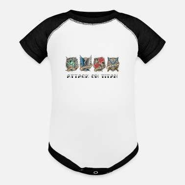 Attack On Titan attack on titan - Baseball Baby Bodysuit