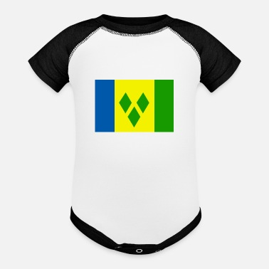 Saint Vincent And The Grenadines saint - Baseball Baby Bodysuit