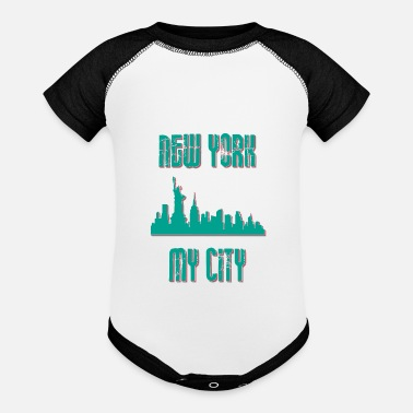 My City New york city My city MY CITY - Baseball Baby Bodysuit