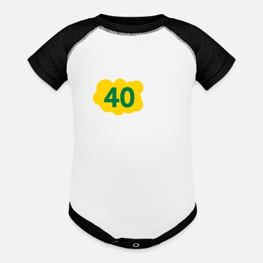 Old 40 Is Not Old. Depressing, But Not Old! - Contrast Baby Bodysuit