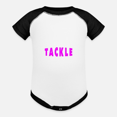 Womens Football Mom Tackle Proud Football Mom Design - Baseball Baby Bodysuit