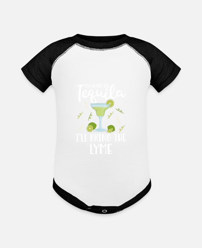 Lyme Baby One Pieces - Lyme Disease Awareness Funny Lyme Disease Shirt - Baseball Baby Bodysuit white/black
