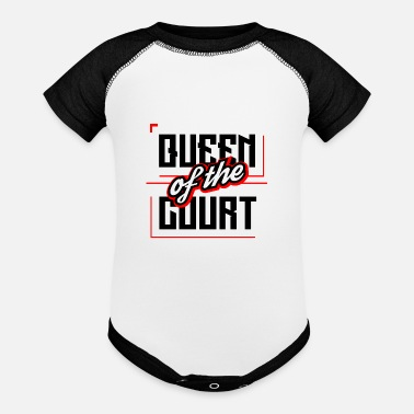 Court QUEEN OF THE COURT - Contrast Baby Bodysuit