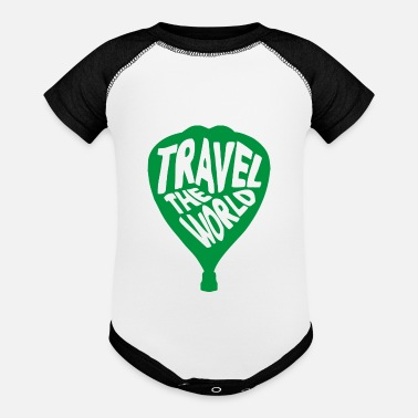 Air Baloon Hand Drawn Air Baloon - Baseball Baby Bodysuit
