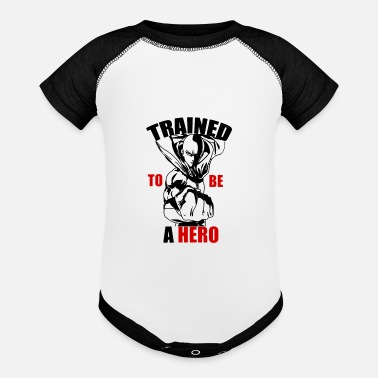 Cyborg One-Punch Man TRAINED TO BE A HERO - Baseball Baby Bodysuit