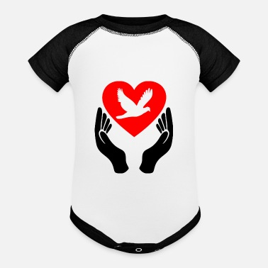 Dove Of Peace Dove of Peace - Baseball Baby Bodysuit