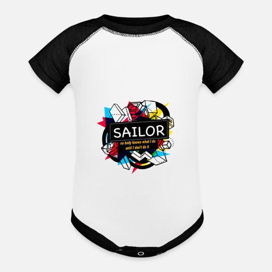 News Baby Clothing - SAILOR - Baseball Baby Bodysuit white/black