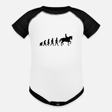 Equitation Evolution Horses Riding Harness Racing Equitation - Contrast Baby Bodysuit