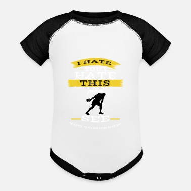 Squat I hate you I hate this place see you tomorrow - Baseball Baby Bodysuit