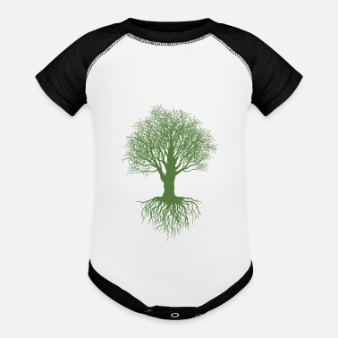 Deforestration Tree - Baseball Baby Bodysuit