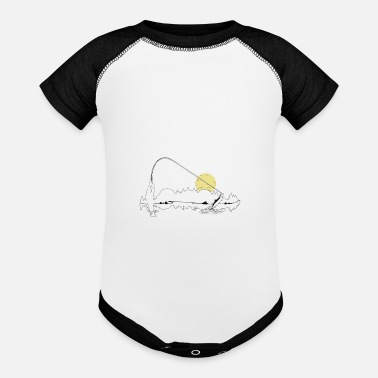 Fishing - Nobody regrets a morning spent fishing - Baseball Baby Bodysuit
