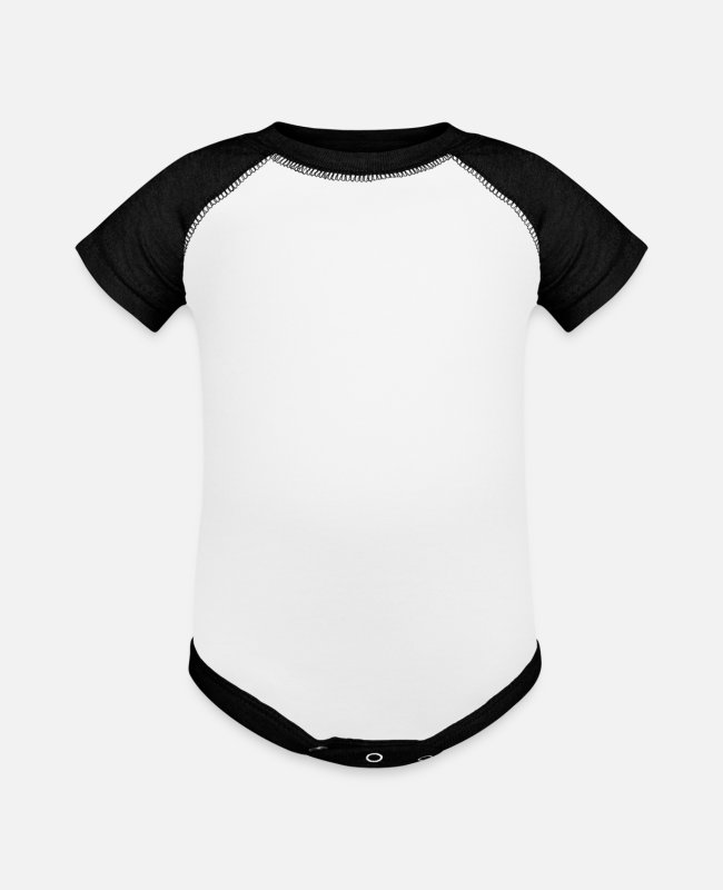 I Love Baby One Pieces - Bison Wisent Beef Farmer Gift Love - Baseball Baby Bodysuit white/black