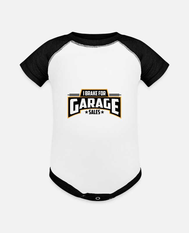 Sale Baby One Pieces - I Brake for Garage Sales | Garage Sales - Baseball Baby Bodysuit white/black