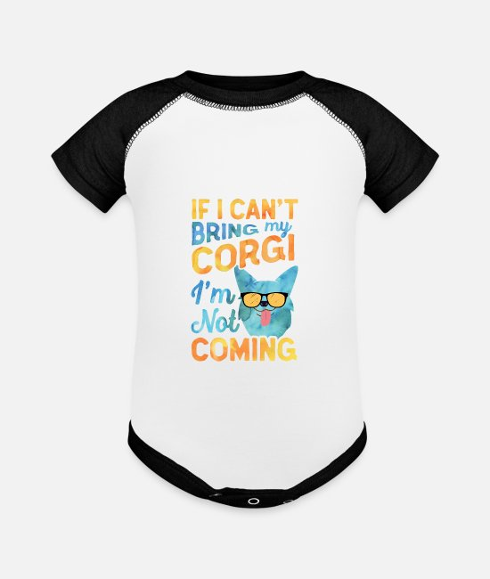 Grandpa Baby One Pieces - Corgi Dad Men Pembroke Welsh Corgi Dog Fathers Day - Baseball Baby Bodysuit white/black