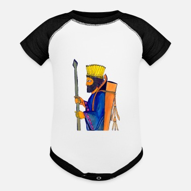 A Persian Guard A Persian Guard watercolor painting - Baseball Baby Bodysuit