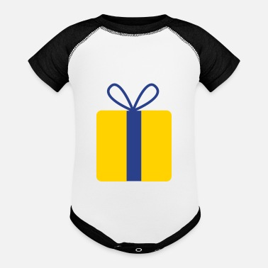Present present gift with bow - Baseball Baby Bodysuit