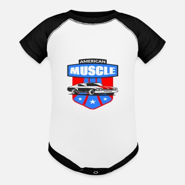 Muscle American Muscle Car - Baseball Baby Bodysuit