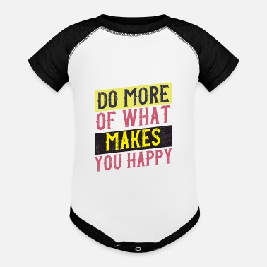Quotes happy vintage style quote - Contrast Baby Bodysuit