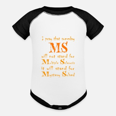 Multiple Sclerosis Multiple Sclerosis Awareness - Baseball Baby Bodysuit