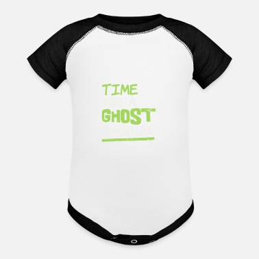 Ghost Ghost Hunter Time For A Ghost Adventure Gift - Baseball Baby Bodysuit