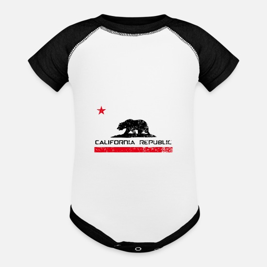 Republic Baby Clothing - California Republic - Baseball Baby Bodysuit white/black
