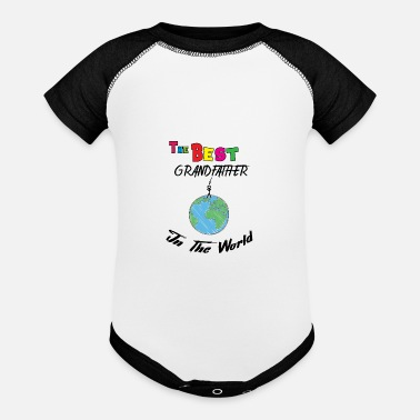 Best Grandfather Best grandfather in the world - Baseball Baby Bodysuit