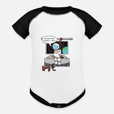 Suicide Funny Astronaut Suicide Hanging Gravity Space Meme - Baseball Baby Bodysuit