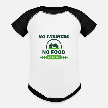 Food NO food no food no future - Baseball Baby Bodysuit