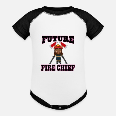 Fire Future Fire Chief Ethnic Girl - Baseball Baby Bodysuit