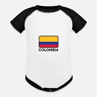 National Flag Of Colombia - Baseball Baby Bodysuit