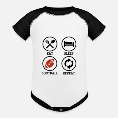 Schland Everything is abaout football. - Baseball Baby Bodysuit