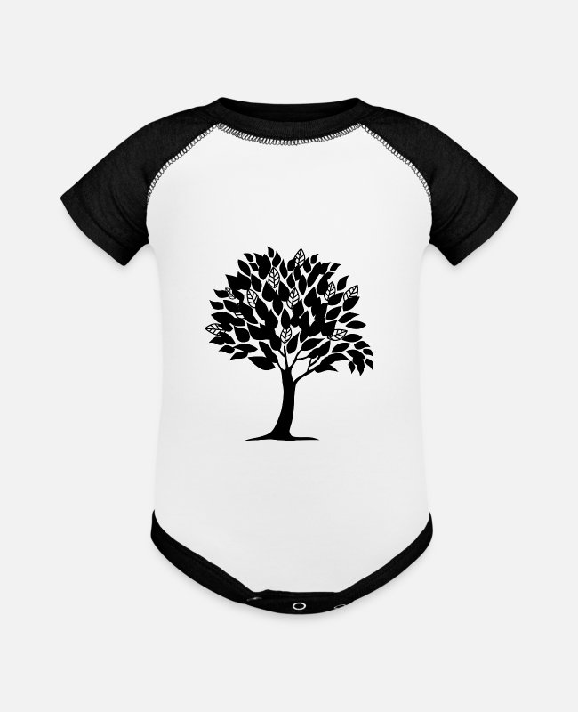 Trees Baby One Pieces - TREE - Baseball Baby Bodysuit white/black
