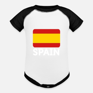 Hereditary National Flag Of Spain - Baseball Baby Bodysuit