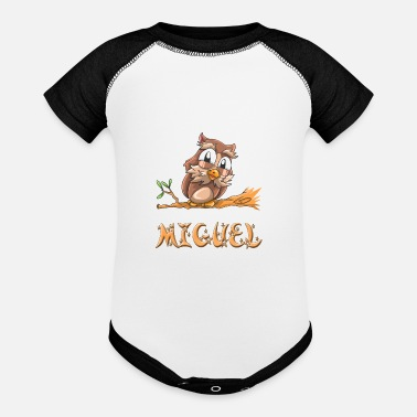 Miguel Miguel Owl - Baseball Baby Bodysuit