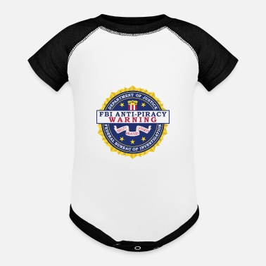 Piracy FBI Anti Piracy Warning Seal - Baseball Baby Bodysuit