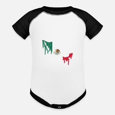 Mexico Paint Drip - Baseball Baby Bodysuit