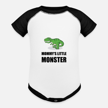 Rex Mommys Little Monster - Baseball Baby Bodysuit