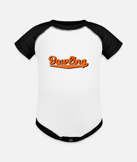 Bowling Baby Clothing - bowling - Baseball Baby Bodysuit white/black
