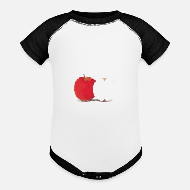 Nerdsbyleo Apple - Baseball Baby Bodysuit